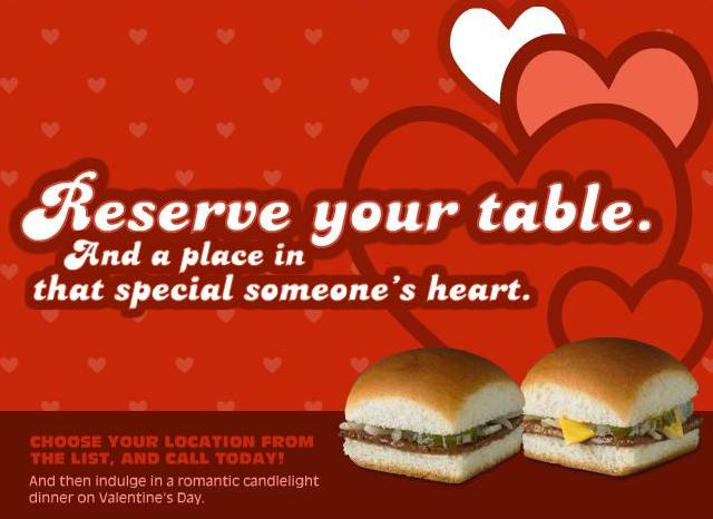 white castle® sizzles with steam-grilled romance this valentine's, Ideas