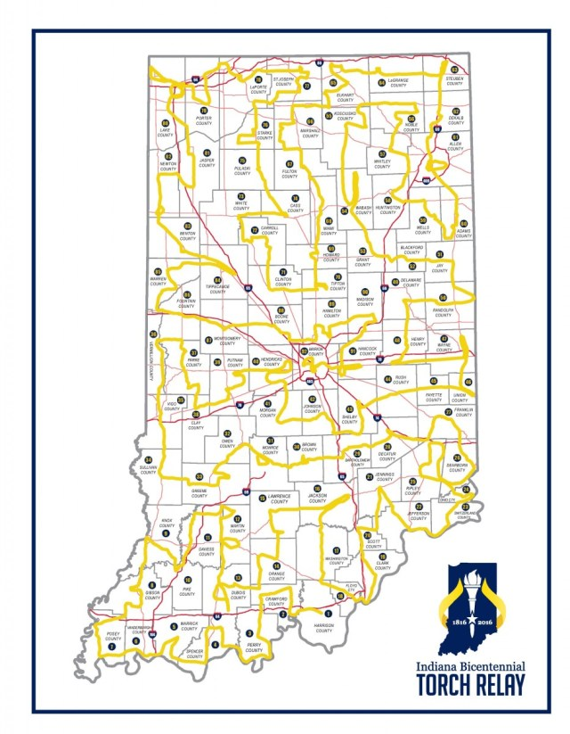 Indiana-Torch-Relay-Route-Map