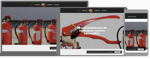 web para empresa de extintores