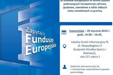 Zainwestuj w siebie z Funduszami Europejskimi