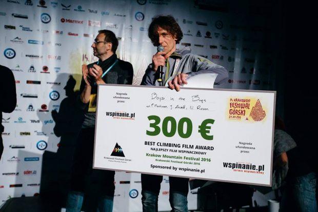 Nagroda wspinanie.pl za najlepszy film wspinaczkowy (fot. Adam Kokot / KFG)