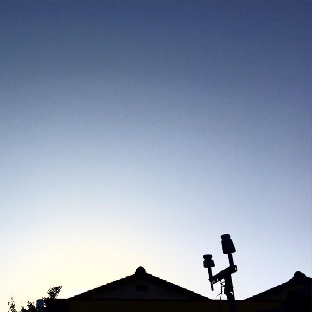 久しぶりの夜明け。今日もいい天気になりそうです。おはよー。#イマソラ #mysky #sky #fine #sunrise