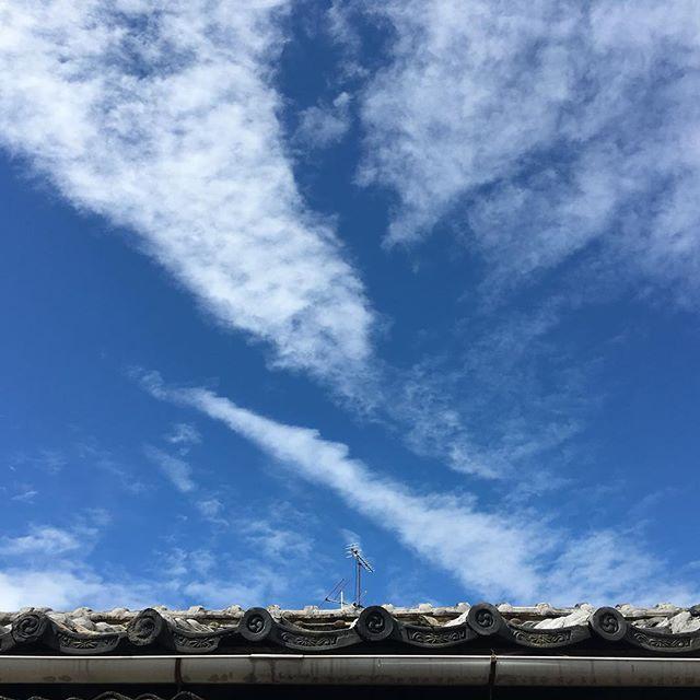 雨のあとの3月とは思えない清々しい空!出かけよう!#イマソラ #mysky #sky #blue #rainy ︎ #fine! #clouds #japanese #roof