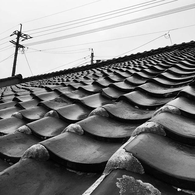 今日も...雨。ひと足早い梅雨のようですね。だんだん落ち着いてきています。#イマソラ #mysky #sky #rain #rainy #rainyday #gray #japanese #tiles #blackandwhite #monochrome #spring #kumamoto #japan #2016