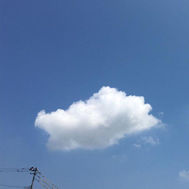さあ、ぽっかりくんの季節になってきましたよ!今日も暑くなりそうです。忙しいのでごぶさたしてますが、元気です#イマソラ #mysky #sky #fine #blue #bluesky #cloud #white
