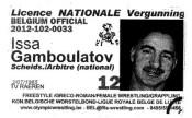Удостоверение судьи бельгийской национальной категории