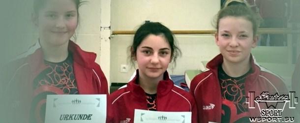 Элиза Гамбулатова на турнире по гимнастике в Нидрум
