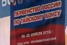 Призеры первенства России по муай-тай