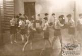 Энвер Ведзижев на тренировке (2-й справа), 50-е годы.