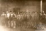 Энвер Ведзижев (1-й слева) на тренировке, 50-е годы.