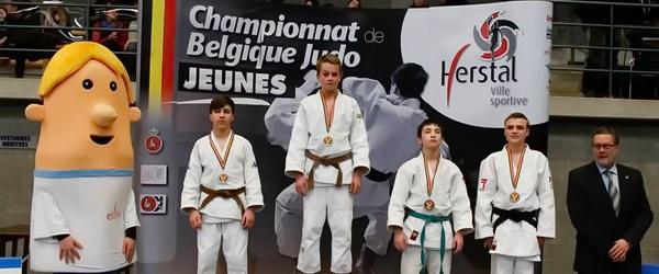 Три чемпиона Бельгии по дзюдо среди юношей