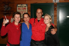 NPR Ducati's Paul Bunde and several of the Ducati gals!