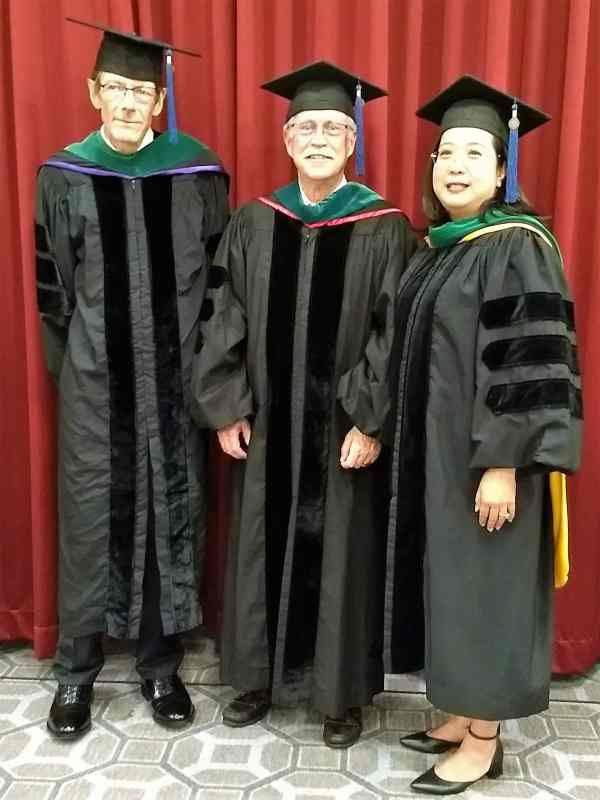 Three newly inducted Fellows of the Academy 2018 convocation