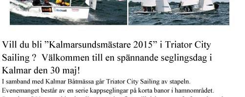 Externa seglingar och träffar