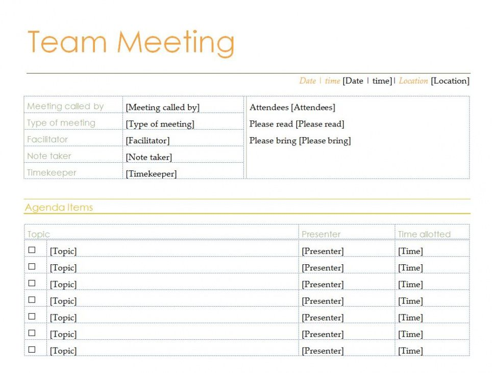 It helps you stay on track and accomplish important goals. Free Meeting Agenda Template Microsoft Word