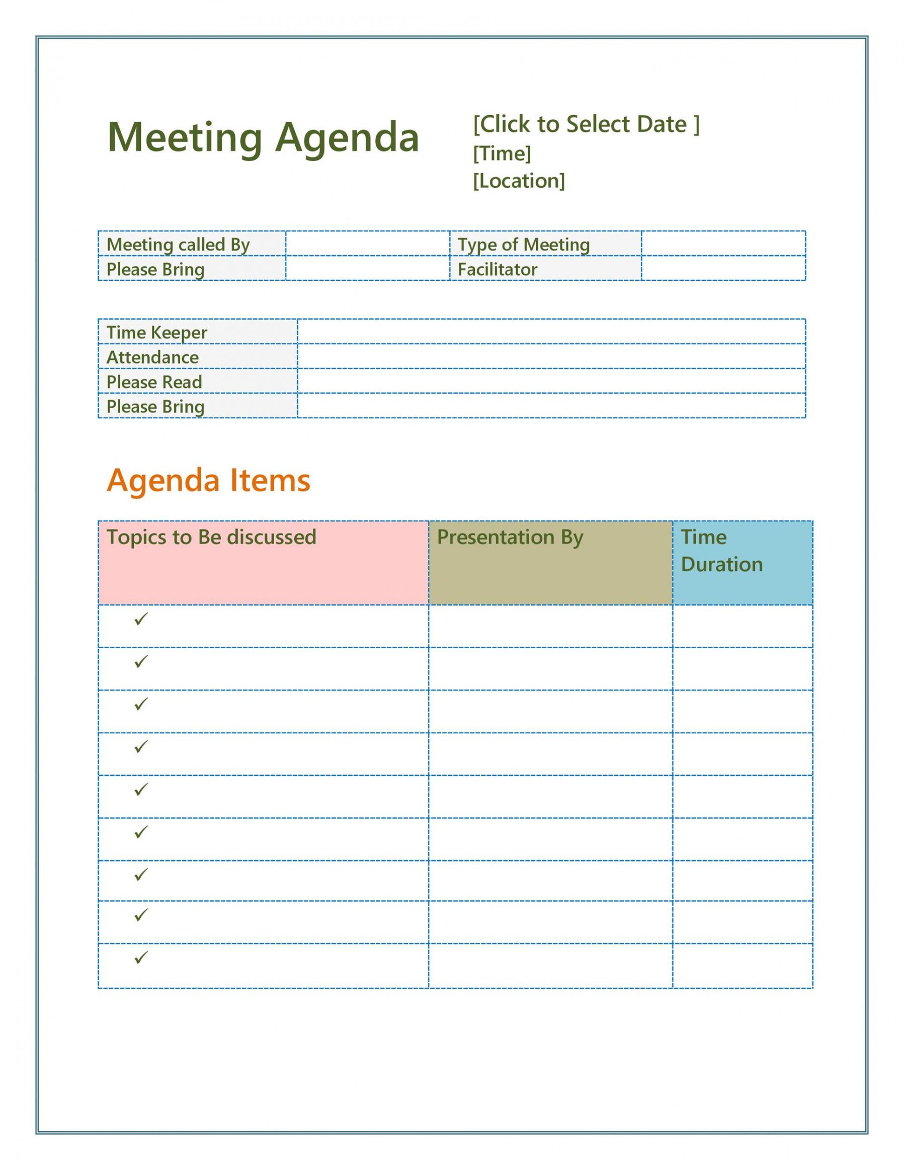 An outline structure helps guide the meeting's direction so that you don't jump from one topic to another, allowing business to be. Weekly Operations Meeting Agenda Template