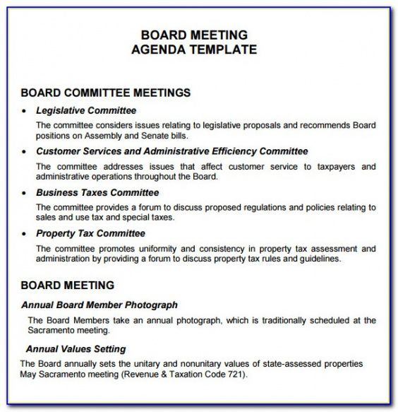 Here's practical advice for holding the first advisory board meeting for your small business, including a sample agenda, planning guidelines, and more. Editable Condo Board Meeting Agenda Template Example Wssufoundation
