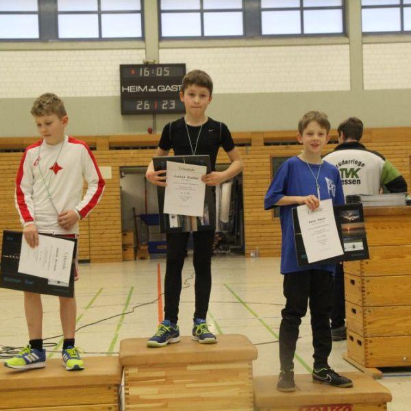 Platz 1 bei den zehnjährigen Jungen für Justus