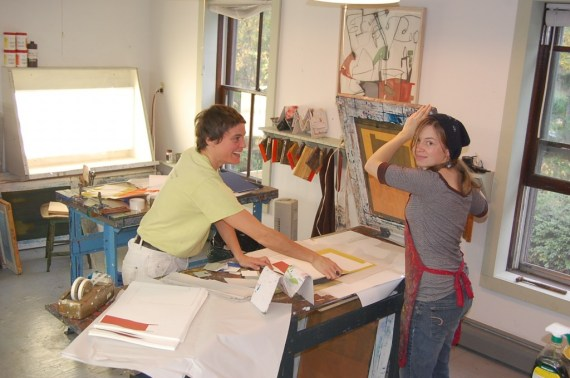 Dani (left) with Caitlin Wheeler hard at work on Skim Milk and Soft Wax.