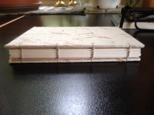 Coptic binding, carefully sewn
