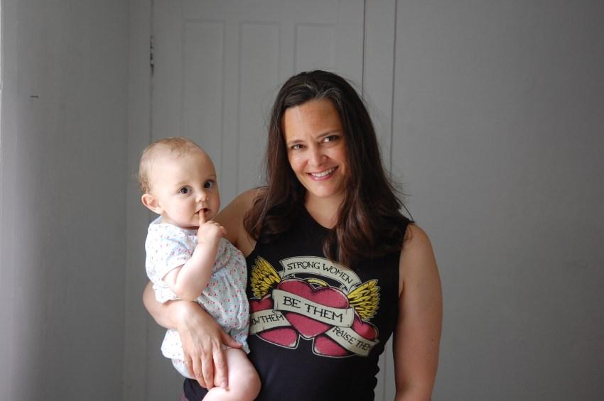 WSW's Executive Director Lauren Walling with her daughter Juliette