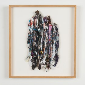 Sheila Hicks, rolled newsprint