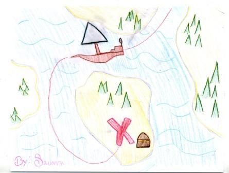 Savanna's map drawing