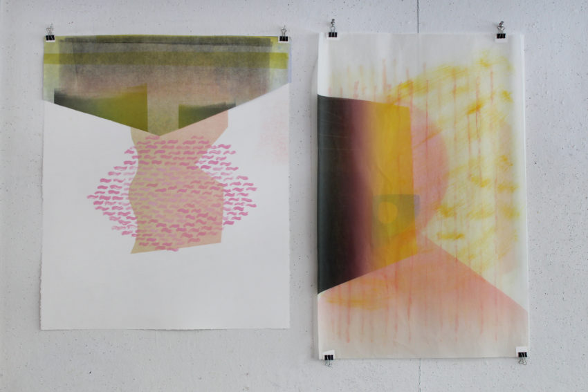 Monoprints by Women's Studio Workshop Resident Katie Ford.