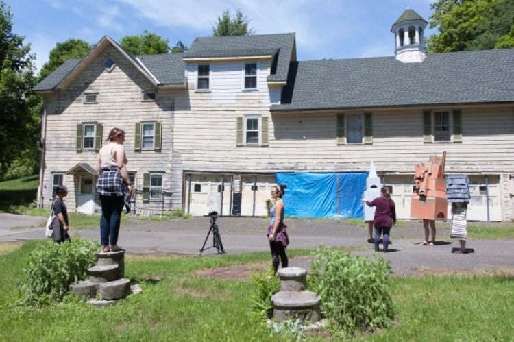Filming at Widow Jane Mine