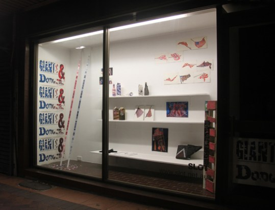 Find Pia Larsen's work in Flag Wavering at the SLOT Window Gallery, Flag Wavering at SLOT, NSW, Australia!