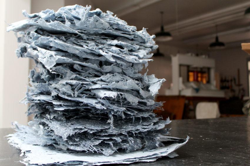 Handmade paper by Studio Workspace Resident Jackie Partridge.