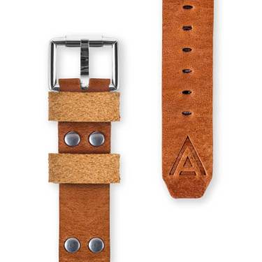 Bespoke watch straps front tan by WT Author