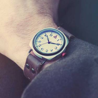 Men's Leather Watches 'No. 1929' Jacket Wristshot Built in Britain by W. T. Author