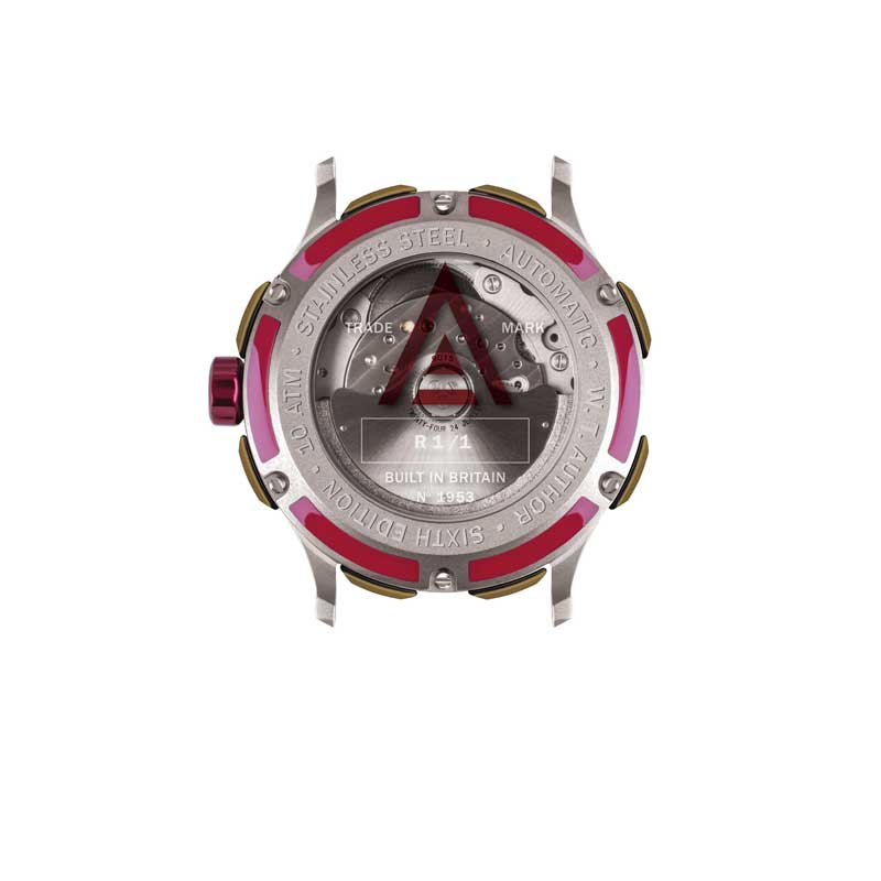 MEN'S DRESS WATCH RED MESH Nº 1953 BACK