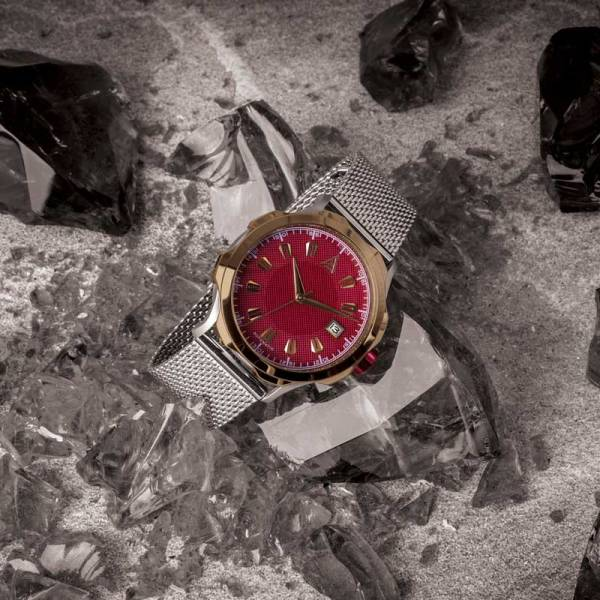 MEN'S DRESS WATCH RED MESH Nº 1953 HERO
