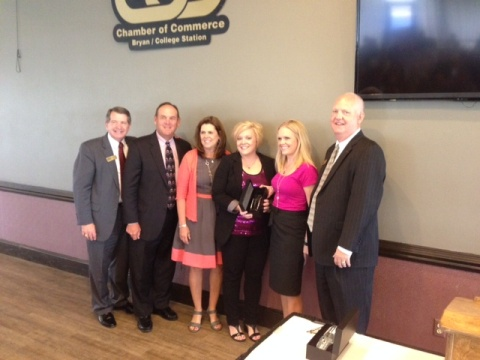 (L-R) Royce Hickman, Rex Janne, Cindy Atkinson, Leah Lucas, Laura Atkinson Wagner, and Glen Brewer.