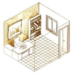 辦公桌、書桌不沖門,不背門,後要有堅實的背靠。p1105-a1-01
