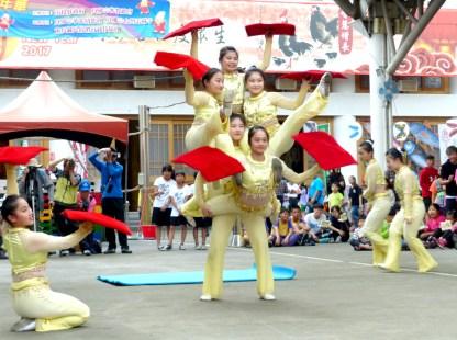 圖為台灣戲曲學院獲民俗技藝優等獎。