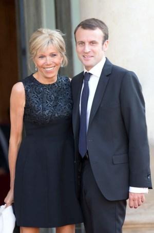 法國總統馬克宏與妻子布莉姬 p1160-a1-04