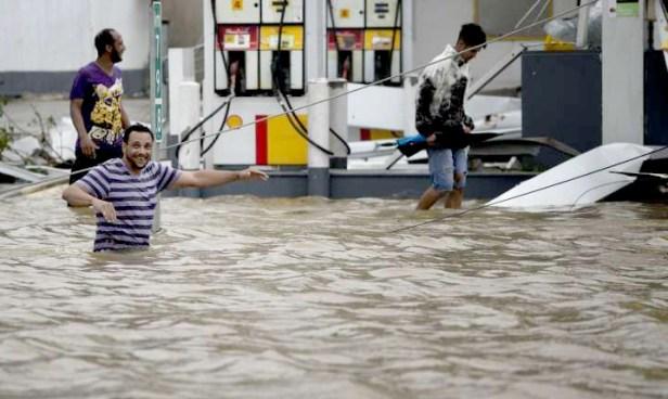 颶風重創波多黎各,各地淹水嚴重。