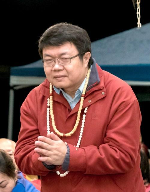 貴賓王醴博士向師尊問安。p1181-02-02A