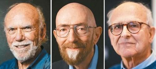 2017諾貝爾物理獎左至右為貝里許、索恩及魏斯。p1181-a4-02a