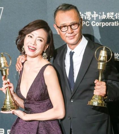 第52屆電視金鐘獎戲劇節目新科帝后劉德凱、柯淑勤。