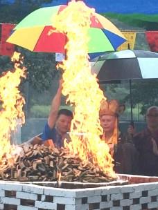 圖為護摩火光明吉祥。