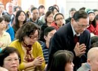 貴賓朱時宜教授伉儷向師尊問安