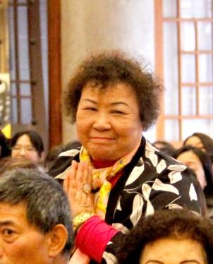 貴賓師尊老友郭雪娥女士向師尊問安