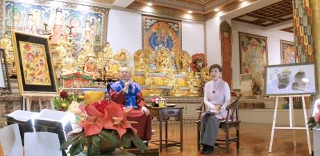 蓮生師佛接受名主持人張月麗小姐專訪