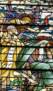 Angels stained glass