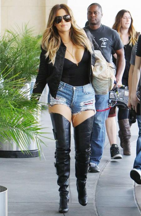 Khloe Kardashian arriving at Loews Hollywood Hotel