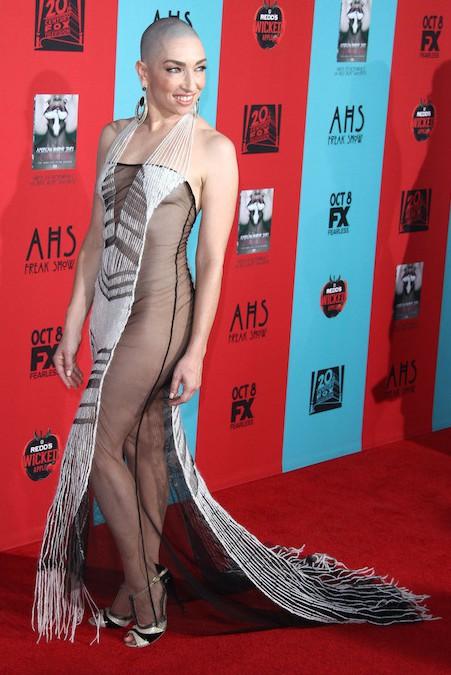 Naomi Grossman attends the premiere of 'American Horror Story: Freak Show' in LA